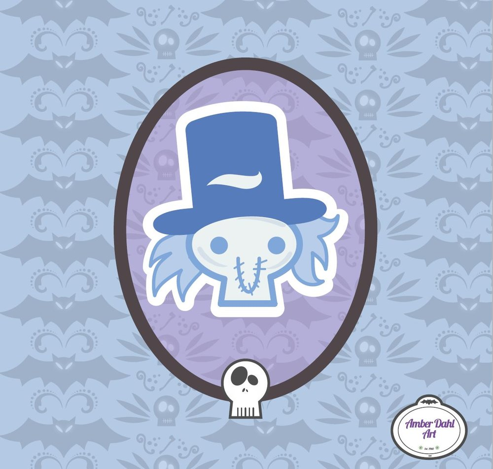 Kawaii Hatbox Ghost
