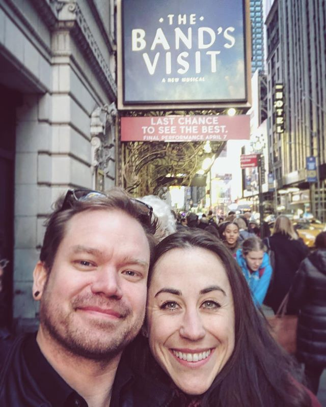 """tldr: Go see the @thebandsvisit before it closes April 7. 🔝 *** I saw The Band's Visit three times, each time with very important people in my life—a husband, a best friend, the parents. It is so special to me, full of """"nothing"""" yet everything at the very same time. It leaves me emotional every time I experience it in person, and every time I listen to the soundtrack at home or on the train.  Just after experiencing it for the first time, a quick hour-and-a-half of this show changed the way I experience the world. There is not much art that I can clearly name that has made a new me. I am grateful for how it has awakened me, and asked more from me on how I continue to connect with others whose lives cross paths with mine.  I am grateful for this story, and to the actors who continue to bring it to life. To @kristensieh @billarmy1 @danieldavidstewart, knowing your beauty off-stage, you only heightened the magic of the experience and my reflection. Thank you.  I hope you get the chance to experience this story before it closes on Broadway next week on April 7.  #thebandsvisit #broadway @ryanwuesty #best"""