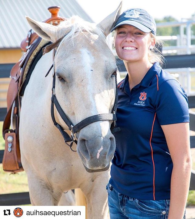 #Repost @auihsaequestrian with @get_repost Shout out to one of our boarders for being featured on the Auburn IHSA Equestrian team page for their Western Wednesday!! • • • • • #stratfordequestrianfarm #welcometoourhouse #waverlyalabama #auburnalabama #western #equestrian #equestriangirls #arcesfordays #horses #ponies #horsesofinstagram #poniesofinstagram #barn ・・・ Kayla is our western rider of the week! She has been riding since she was 6 years old. She first learned how to ride saddle seat and then once she owned her first horse she learned western pleasure. She started showing in Georgia 4H in 4th grade and by the time she was a senior in highschool she was a master 4Her and showed in almost every discipline at the state horse show. Her favorite classes to compete in are trail and showmanship. She got my master 4H status by doing a public speaking presentation on equine therapy and won 1st place at state congress allowing her to attend National 4H congress. She has had a goal of being on an IHSA team since she was in 5th grade and now she is working towards the goal of making it to nationals. Happy #westernwednesday