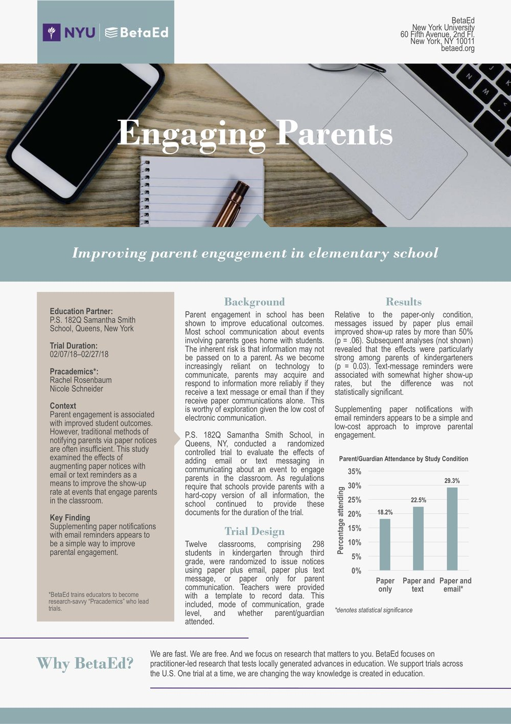 Increasing Parent Involvement with Email Notifications