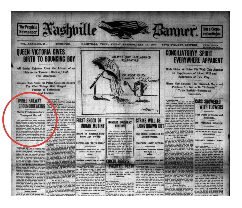 From the archives of The Nashville Banner, May 10th, 1907