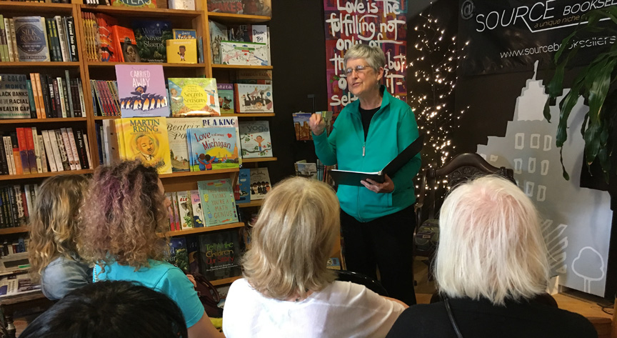 Speaking at Source Booksellers in Detroit, Michigan ~ July 29, 2018