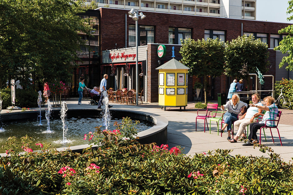 """De Hogeweyk, a self-contained """"Dementia Village"""" in the Netherlands is designed like a typical village complete with a park, grocery store and restaurants."""