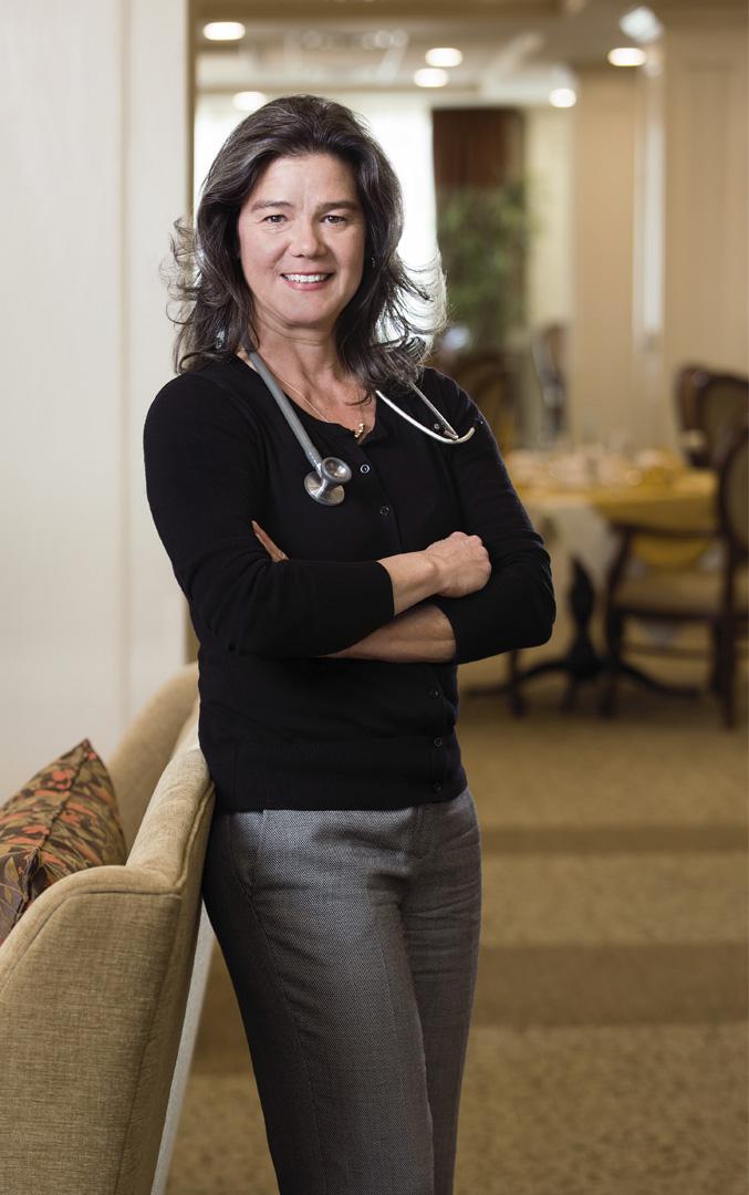 Julie Bertram, on-site at Sage Hill Retirement Residence.
