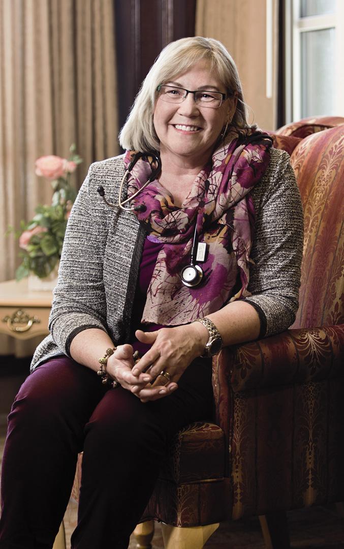 Debra Vermunt, on-site in Okotoks.