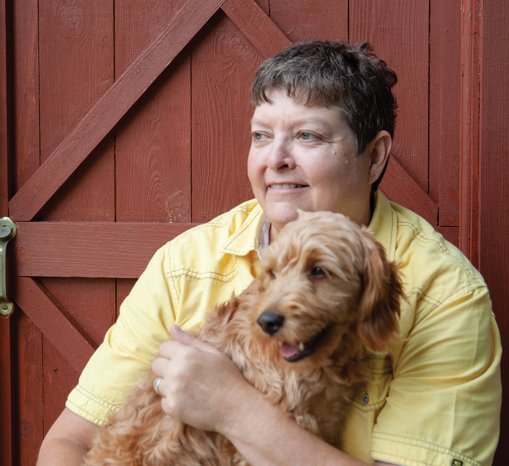 Mary Beth Wighton and her dog, Bailey. Photo by Peter McNeice