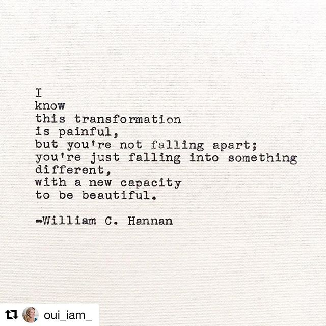 Thanks to my lovely fellow Jodi @oui_iam_  for this one. Much needed and so true. Transformation is tough but a necessary part of the journey to create a business (and life) you love.
