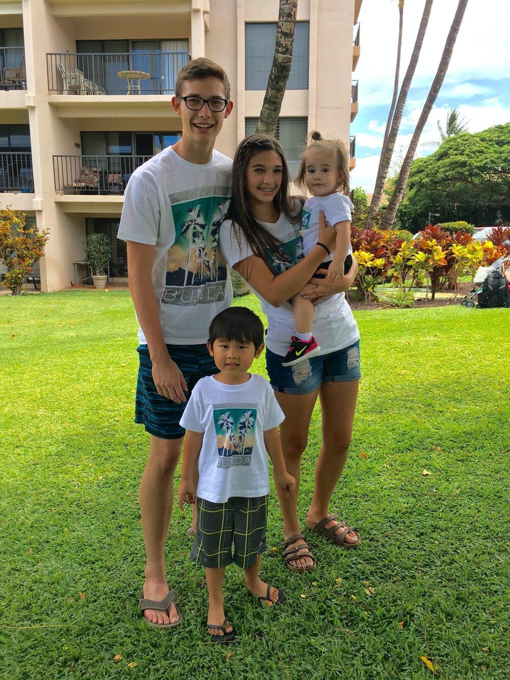 GRANDCHILDREN: CHRISTIAN, LYON, OLIVIA & RYIAN