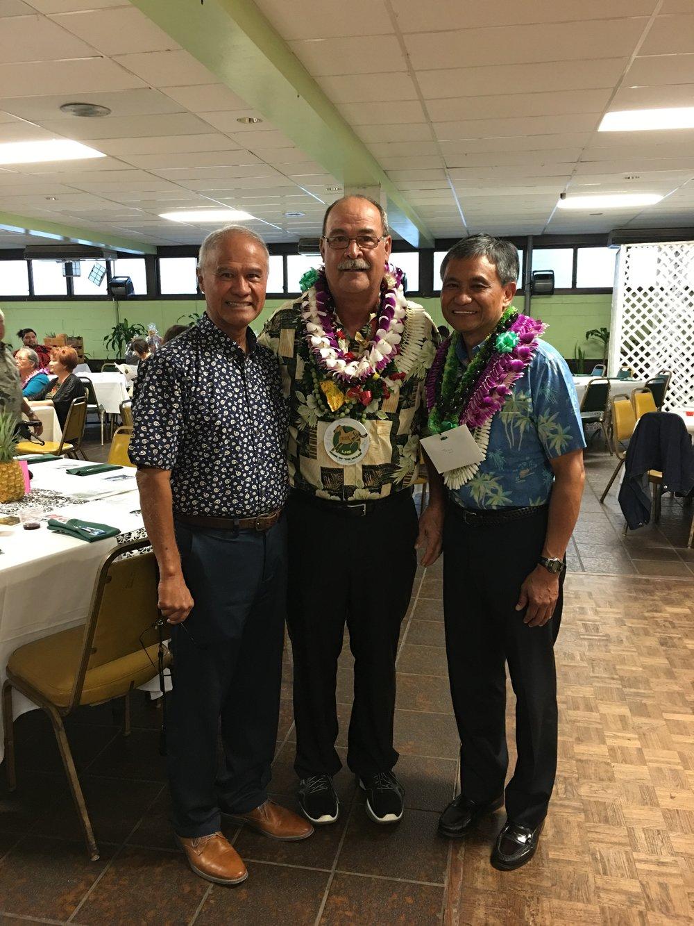 Bobby Bunda, Dr. Alex Kaloi, and General Anthony Taguba