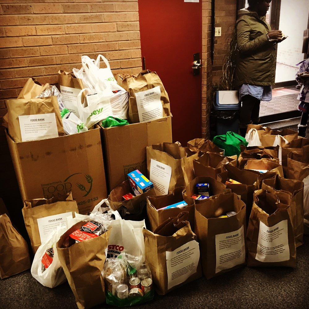 Donations from a full Advent season.