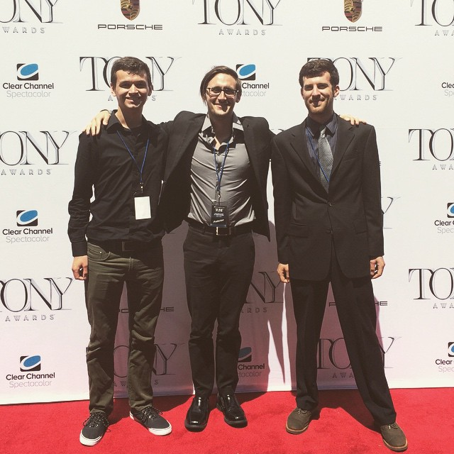 Insert Grant & crew being hotshots at the Tony's -