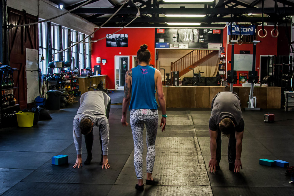 Yoga at CrossFit Thames