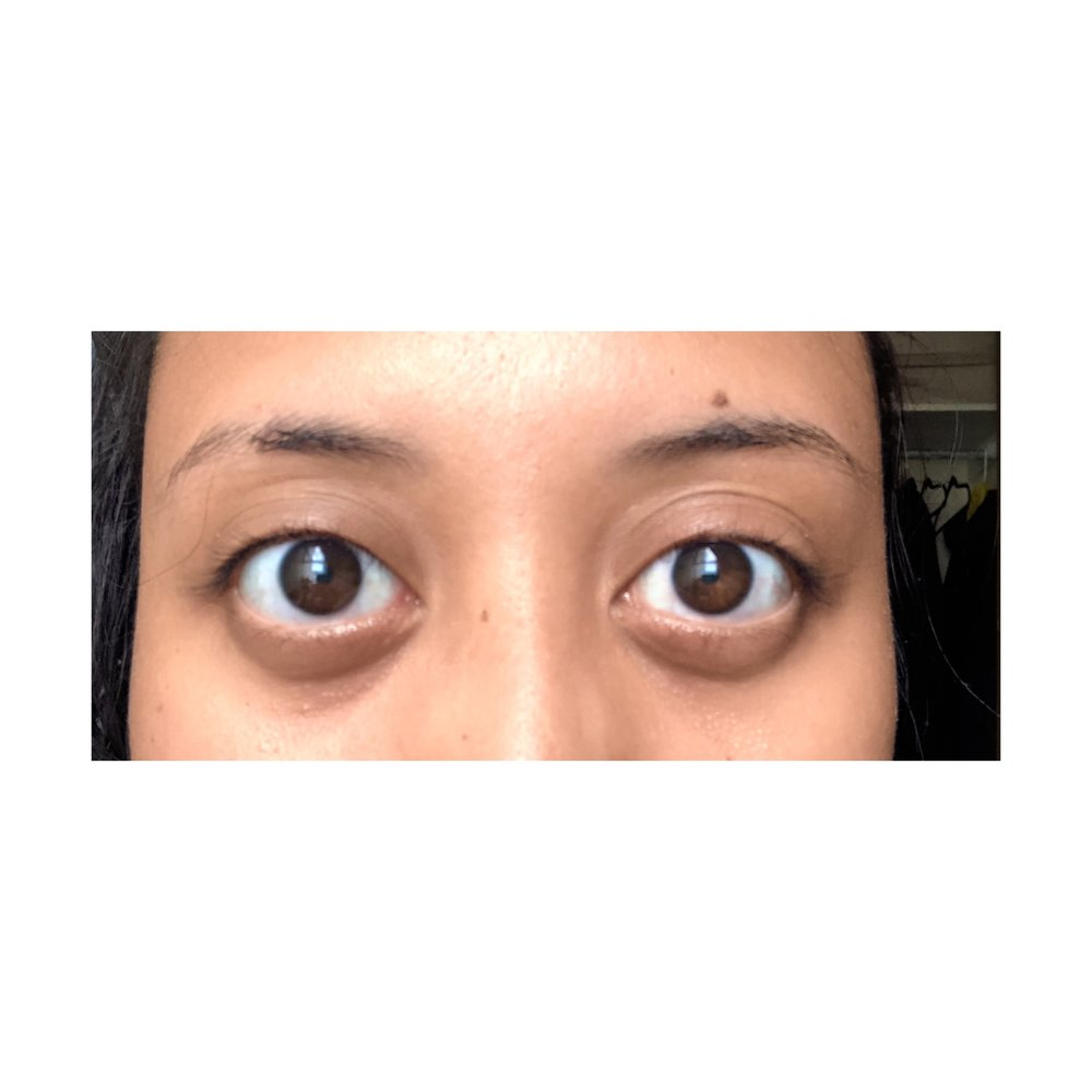 AFTER perming my eyelashes at home