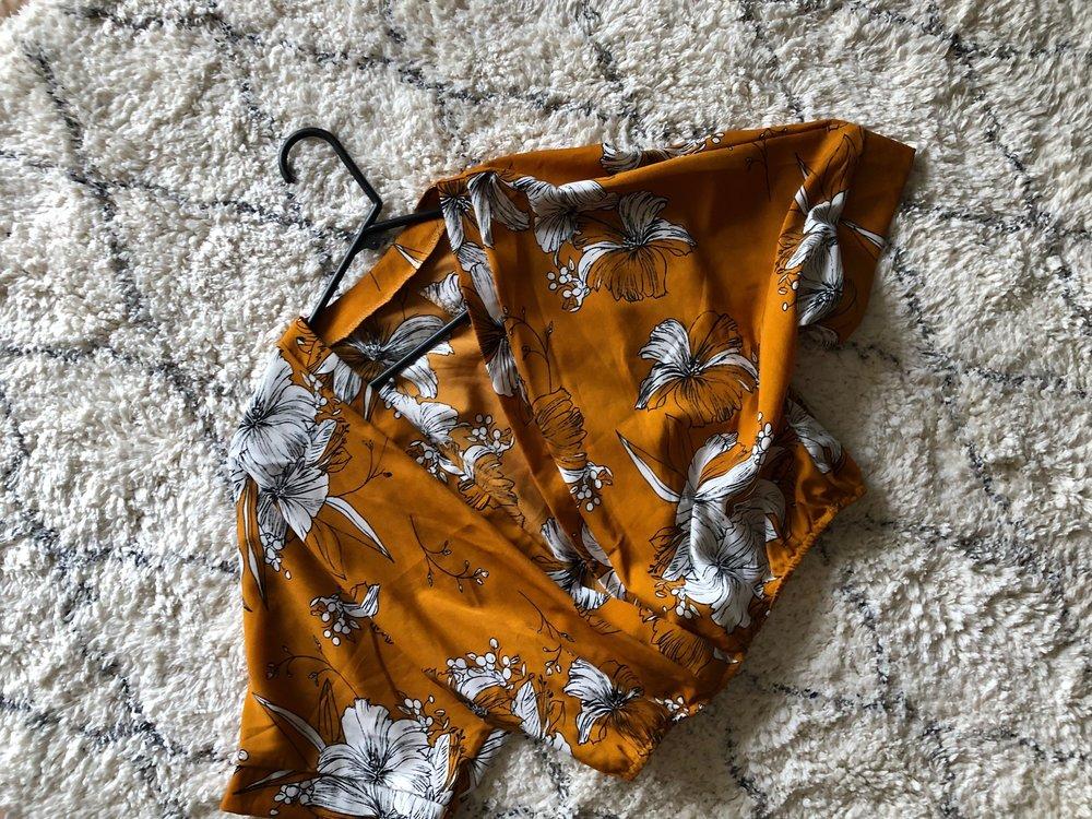 Romwe kimono sleeve top