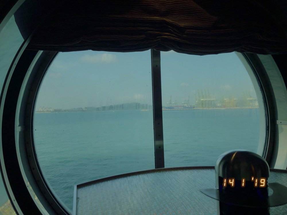 Our last hour on board the ship. This taken from Studio B on deck 3.