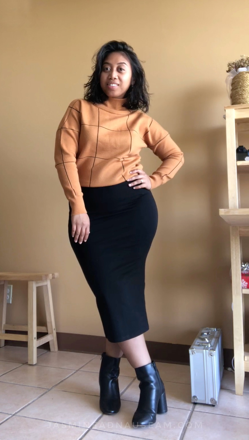 The sweater from  Wish.com ! Same aesthetic but different color.