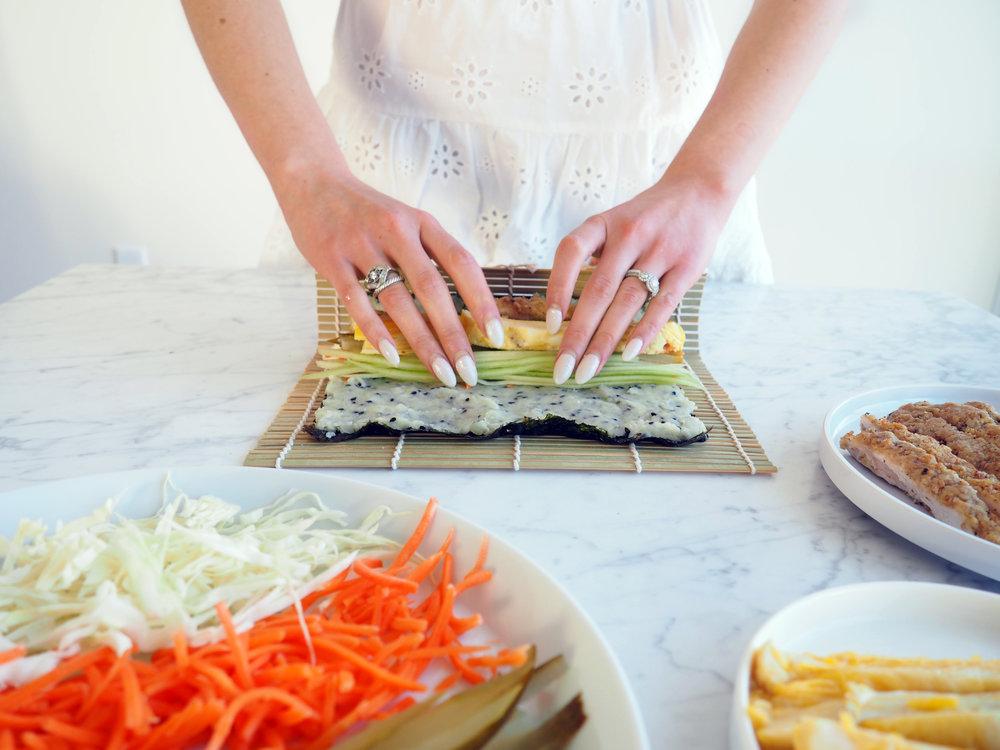 paleo sushi wrap