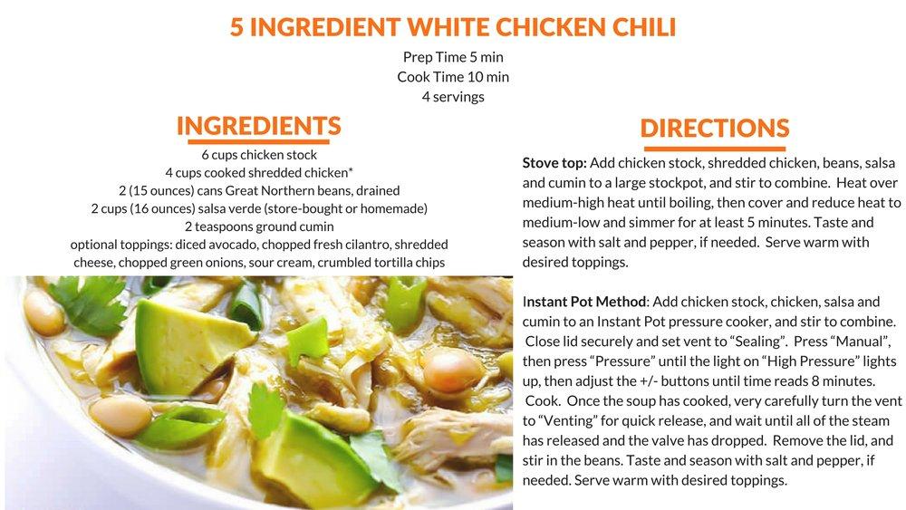5 Ingredient White Chicken Chili