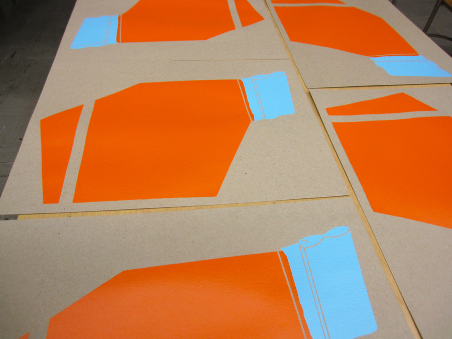 Screen Print Posters Orange Blue Silk Screen.jpg