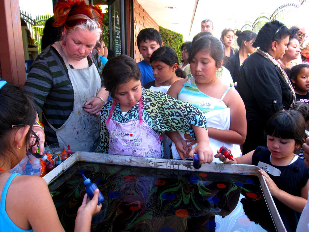 Florence Library Marbling Artist Led Workshop Youth Los Angeles.jpg
