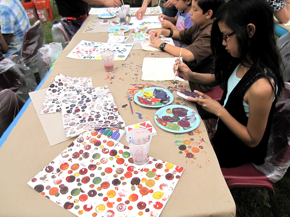 Artesia Library Block Printing Artist Led Workshop Yourth Polka Dots Color.jpg