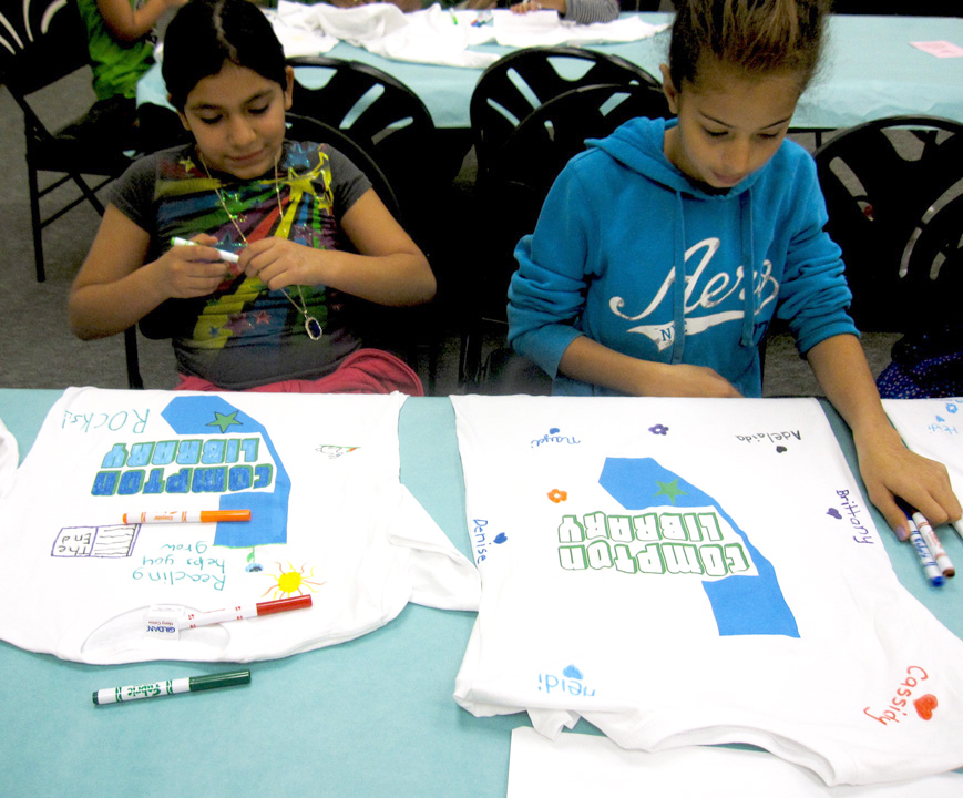 Compton Library Screenprint Artist Led Workshop Youth tees.jpg