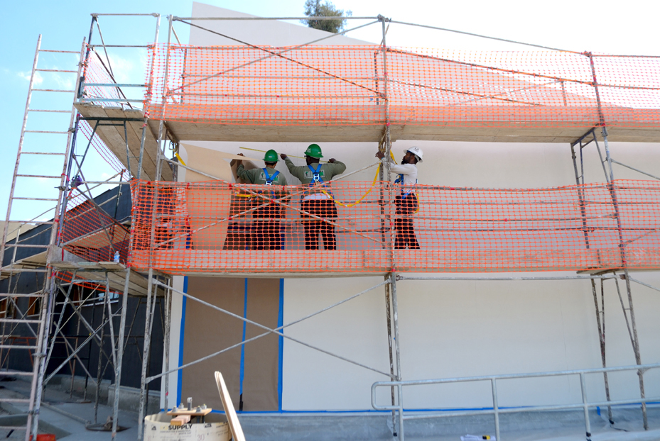 East Rancho Los Angeles LA Corps Painting Facade Community Center.jpg