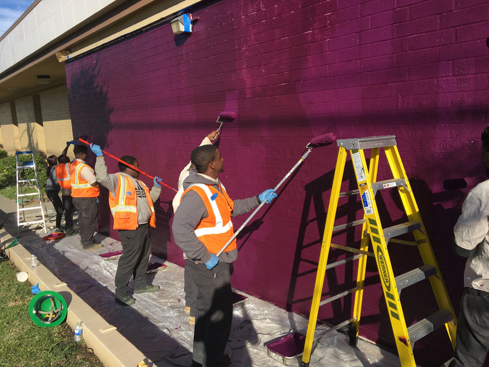Woodcrest Library Los Angeles Conservation Corps Painting Mural Purple Public Art.jpg
