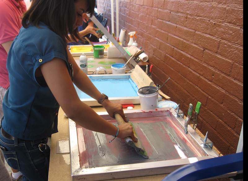girl printing