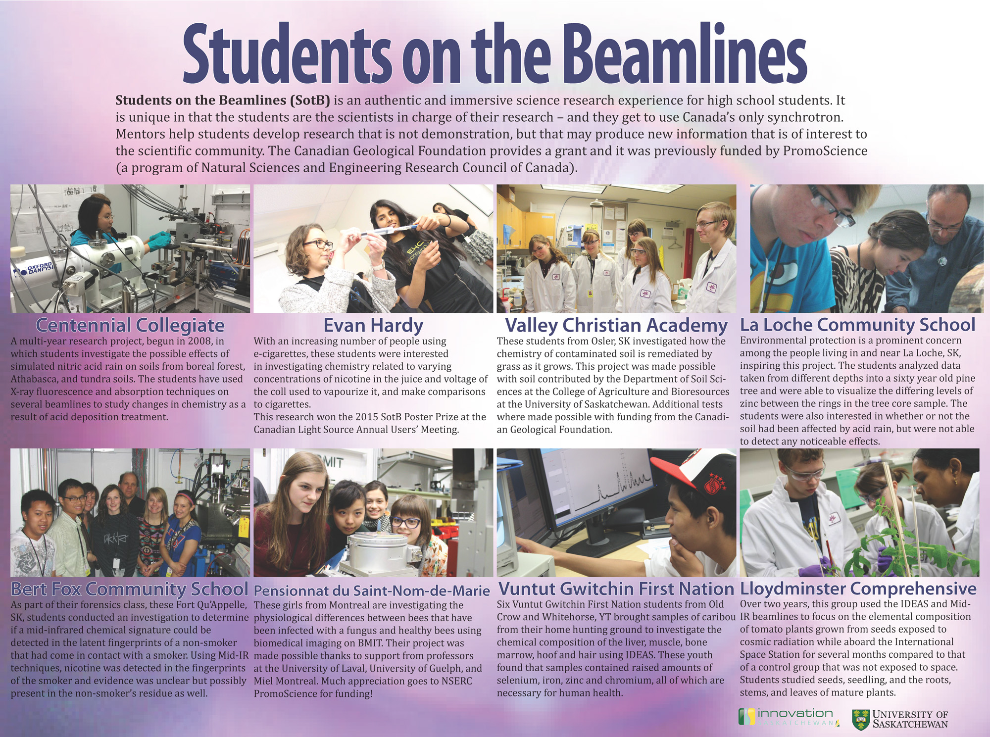 students on the beamline poster