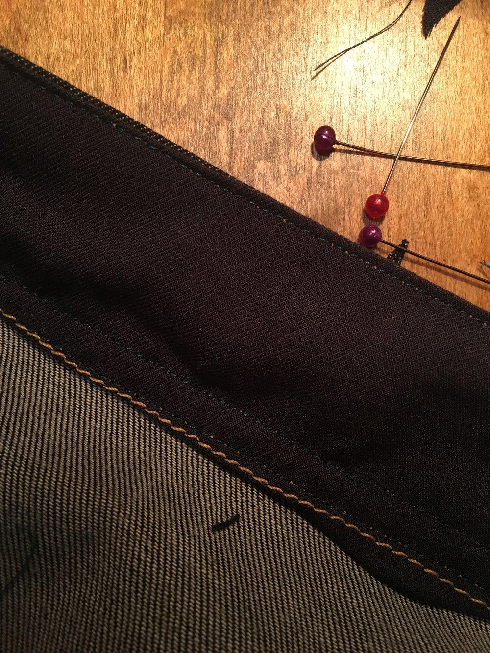 inner waistband ginger jeans