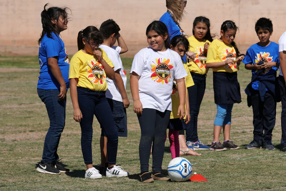 Image from the Pueblo del Sol Field Donation Kickball Game.