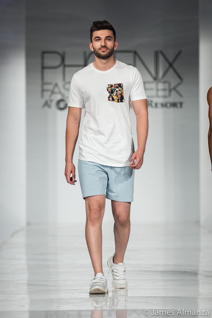 QMULATIVE Line being modeled at Phoenix Fashion Week 2017