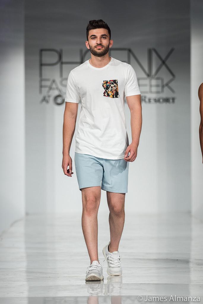 QMULATIVE Line being modeled at Phoenix Fashion Week 2017
