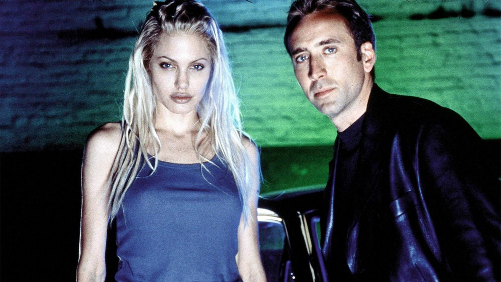 Angelina Jolie  and  Nicolas Cage  on the set of Gone In 60 Seconds