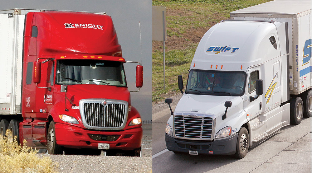 You've probably seen Knight and Swift Transportation trucks out on the roads. Did you know they were both founded right here in Phoenix, AZ?