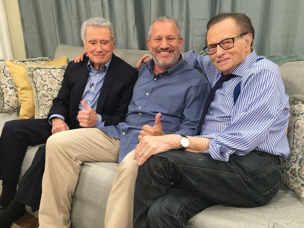 Scott Flansburg with Regis Philbin and Larry King