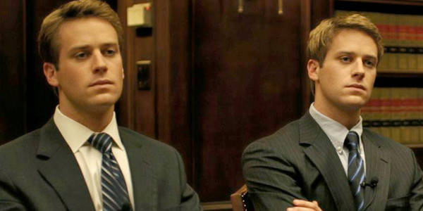 Armie Hammer  played the parts of both twins while  Josh Pence  was the body double for the second twin.