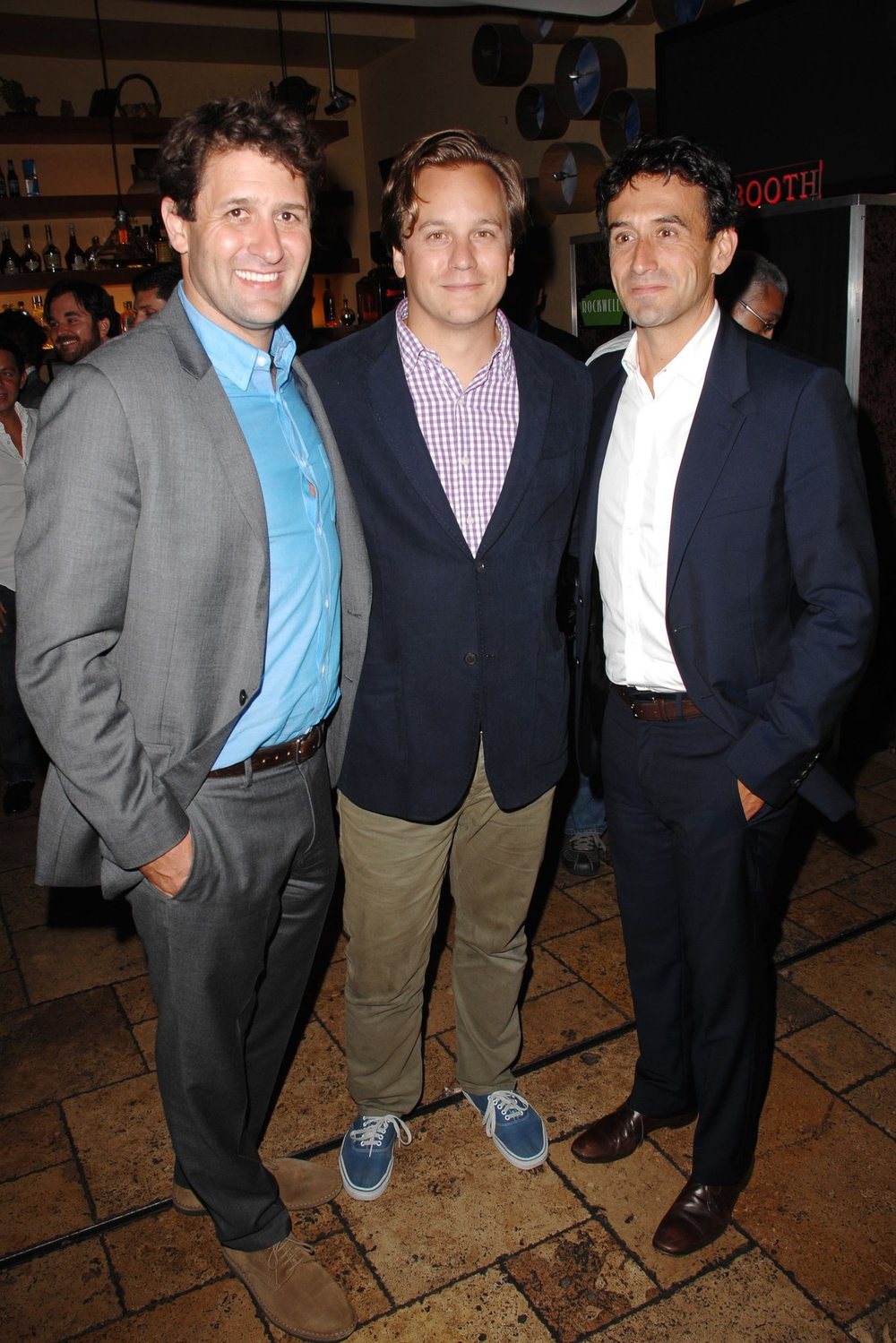 "From left, the A24 founders David Fenkel, John Hodges and Daniel Katz at a 2013 screening of ""The Spectacular Now."""