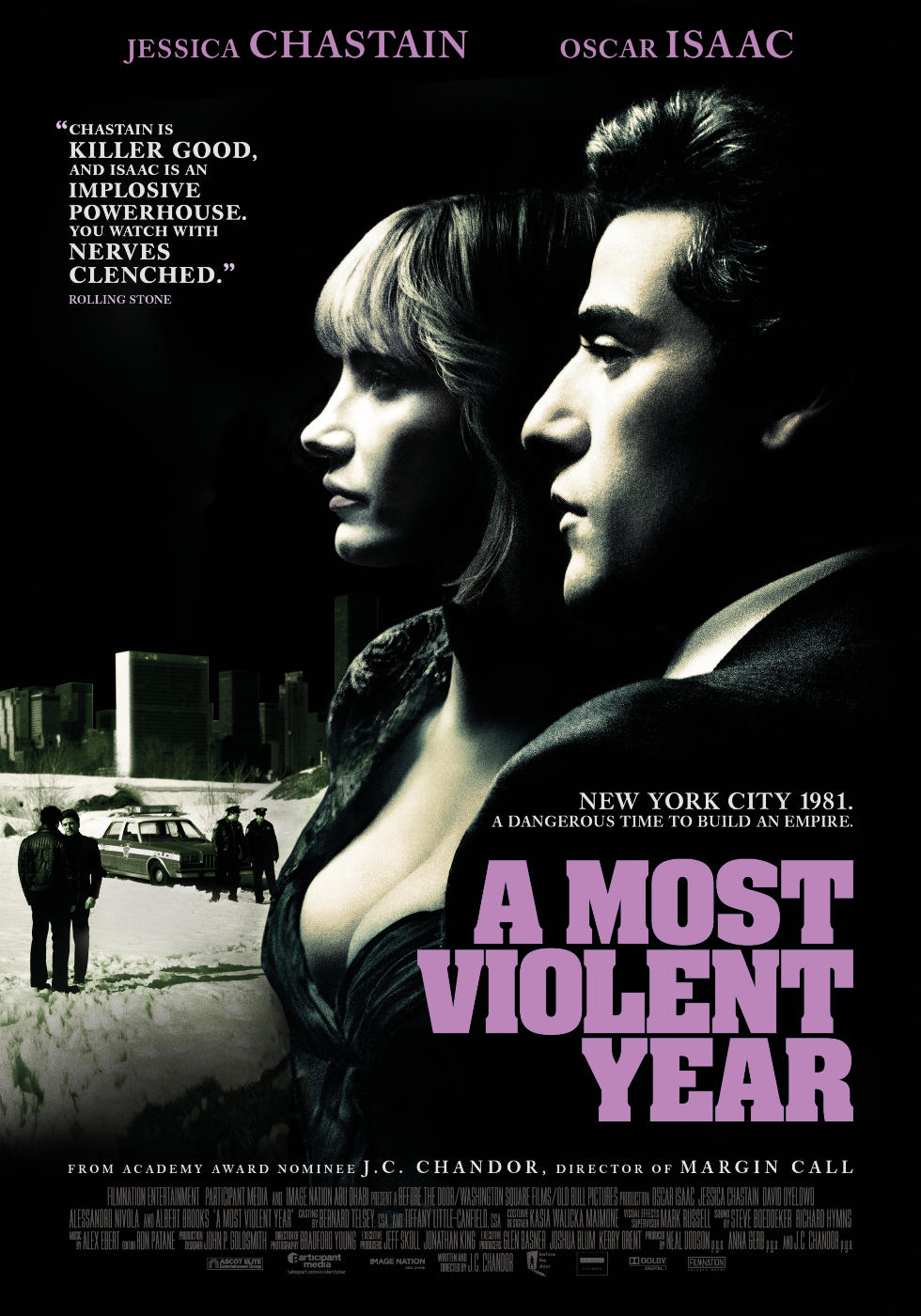 J.C. Chandor  is the writer and director of the 2014 A24 film, A Most Violent Year, starring  Oscar Isaac