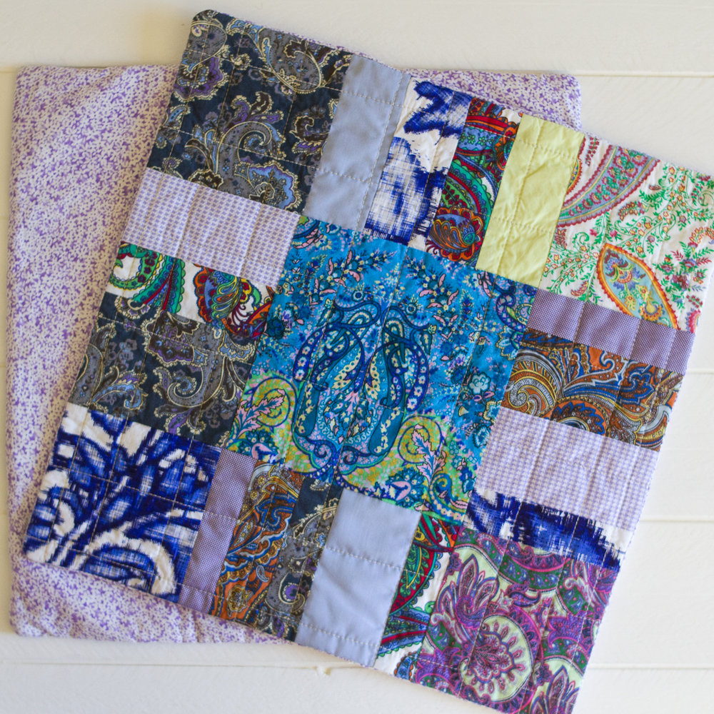 Memorial Boho Quilted Pillow Covers Finished via www.helloquilting.com