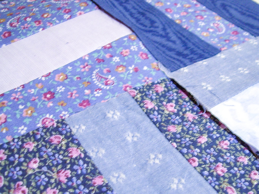 Red & Blue Post-and-Rail Fence Original Blocks via www.helloquilting.com