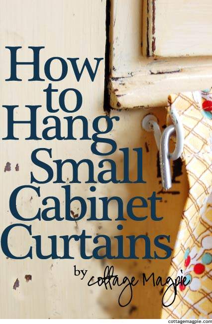 How To Hang Super Cheap Small Cabinet Curtains Simple Creative Home