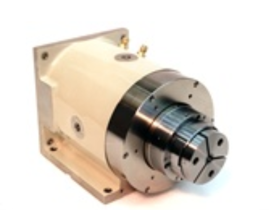 Motorized Spindles - Motorized Spindles integrate motors with air spindles for unmatched smoothness combined with high power and precision. Optional features include water cooling, optical encoders, metrology brakes, and non-influencing rotary unions. Typical applications include memory-disk research, generate aspheric optics, or build liquid-mirror telescopes.4R Twin-Mount - high-power brushless-DC motor4R Foot/Flange, A.C. Cube - 1hp AC induction motor Motorized 10R – 10hp brushless-DC motor ,Motorized ISO