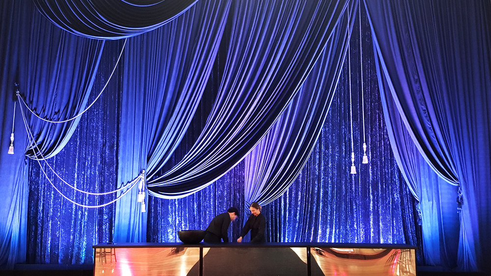 Try combining statement draping and lighting to really get your guests talking all night long. -