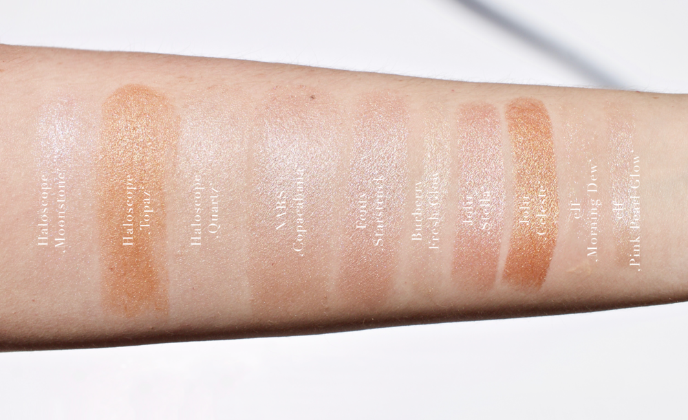 swatches taken in direct sunlight