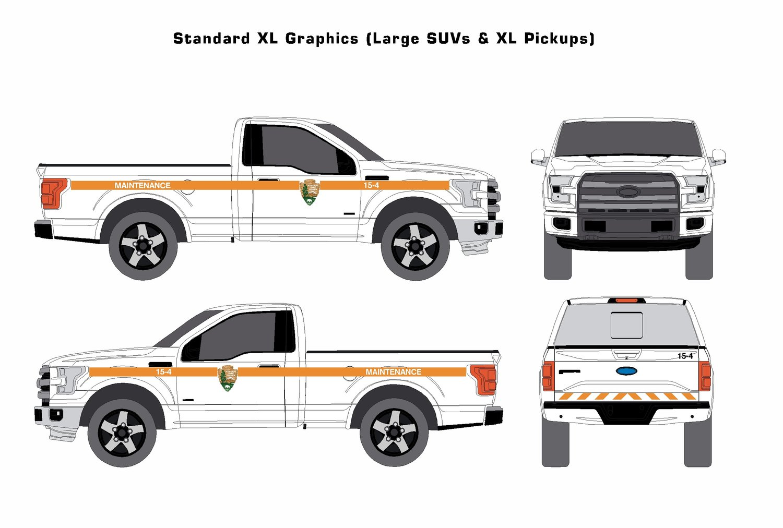 Nps standard pickup maintenance graphics kit includes insured ups standard shipping municipal graphics