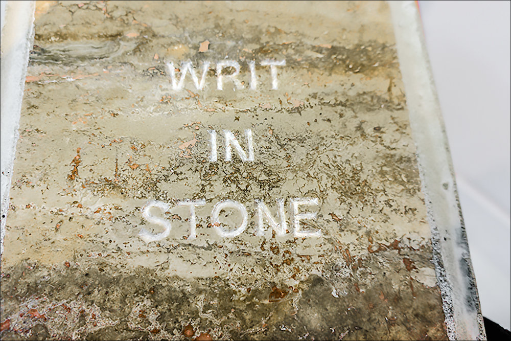 Writ in Stone (detail)