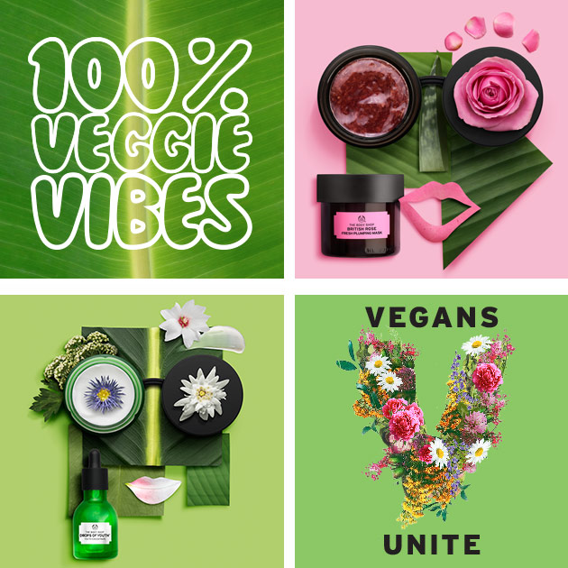 Image Courtesy of The Body Shop 100% Vegeterain Beauty Page