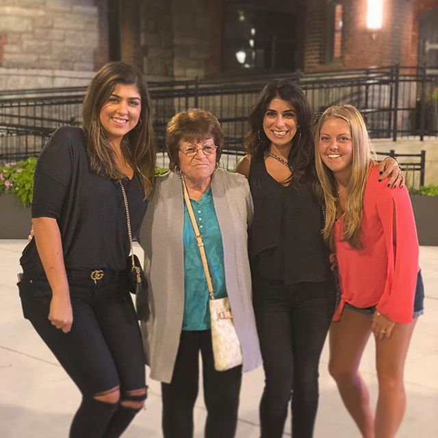 Such a fun Saturday night out 💃 with my cousins... we even took Grammy along. ❤️ them all SO much!!! Wore my go-to all-black-everything with my fave distressed jeans, splurge @gucci belt and bag. 🙌Check out my blog tomorrow for a new post! 💻 I've been super busy with a new job, but I gave the blog a little makeover and can't wait to start posting again! 😃 I have so many fun things planned. For now, I am going to relax this #sundayfunday, I hope you all have a wonderful day. . . . . #igstyle #whatiwore #allblackeverything #guccistyle #guccibelt #wiw #styledbyme #ootd #fashion #fashionblogger #weekendvibes #targetstyle #blogger #thenaturalbrunette #fallfashion #fallstyle #SC #stylecollection #scsisterlove #mablogger #bostonblogger